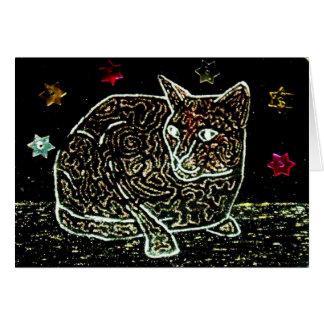 Black Magic Cat Greeting Card