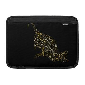 black magic cat MacBook air sleeve