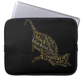 black magic cat laptop sleeves