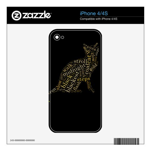 black magic cat skins for the iPhone 4S