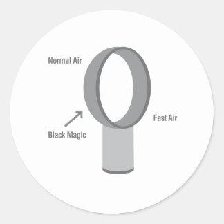Black Magic Classic Round Sticker