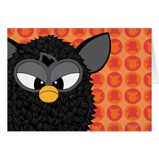 Black Magic Furby Greeting Card