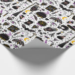 """Black Magic Halloween Wrapping Paper<br><div class=""""desc"""">Black magic spooky Halloween wrapping paper.</div>"""