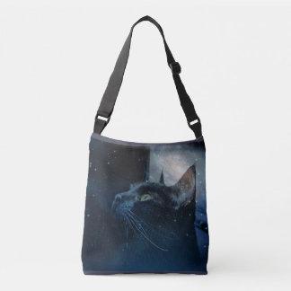 Black Magic Kitty crossover shoulder bag Tote Bag