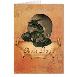 Black Magic Skull Greeting Card