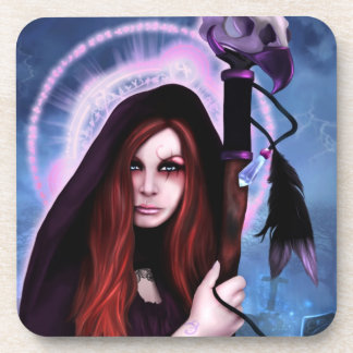 Black Magic Woman  Cork Coaster