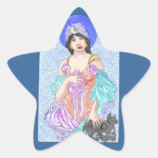 Black Magic Woman Star Sticker