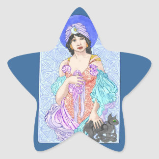 Black Magic Woman Star Stickers