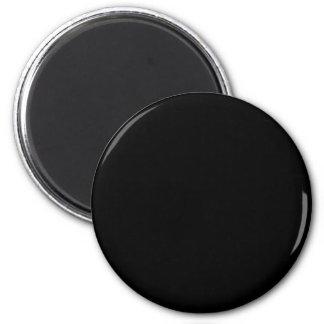Black 2 Inch Round Magnet