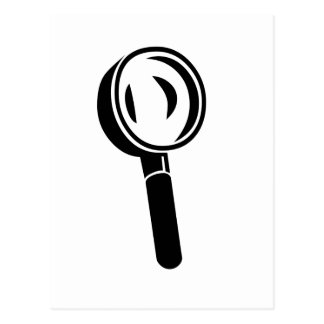 Black Magnifying Glass Postcard