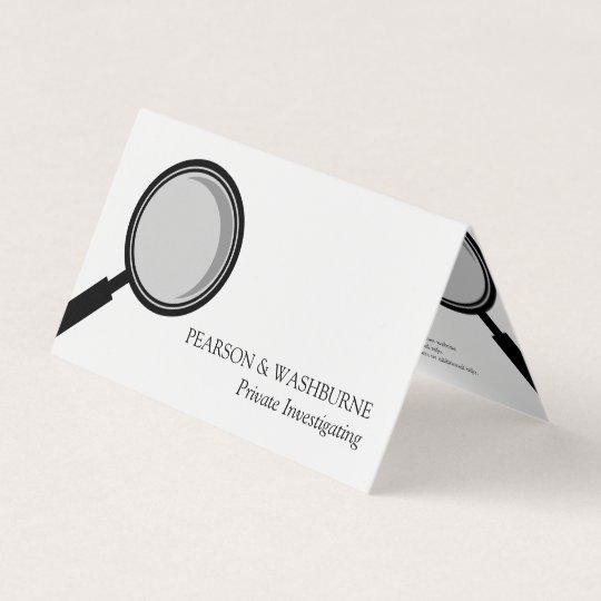 Black magnifying glass private investigator business card zazzle black magnifying glass private investigator business card colourmoves