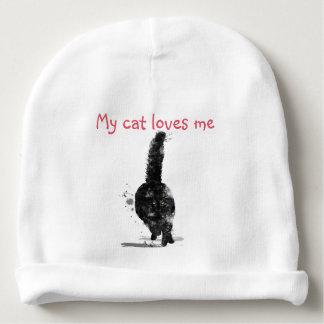 BLACK MAINE COON CAT - BABY BEANIE