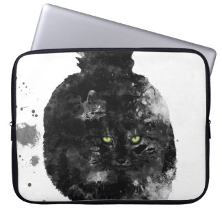 BLACK MAINE COON CAT - COMPUTER SLEEVE