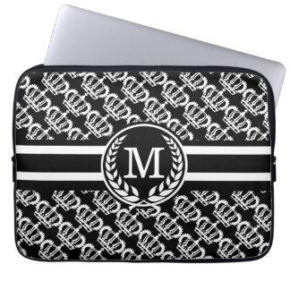 Black Majesty Monogram Laptop Sleeve