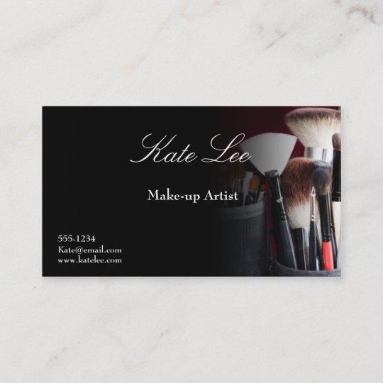 Black Make Up Brush Cosmetology Business Cards Zazzle