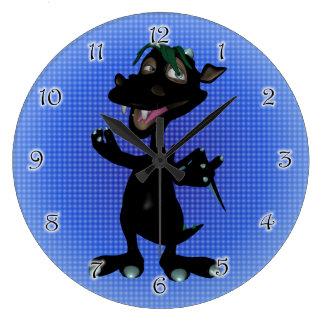 Black Male Platypus Dino Clock