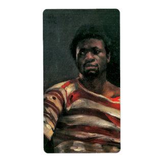 Black man portrait Otello painting Corinth sticker