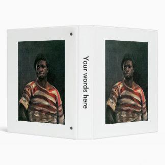 Black man portrait Othello painting Lovis Corinth Vinyl Binders