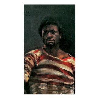Black man portrait Othello painting Lovis Corinth Business Card