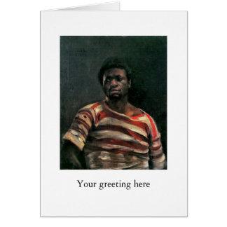 Black man portrait Othello painting Lovis Corinth Card