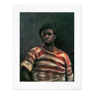 Black man portrait Othello painting Lovis Corinth Full Color Flyer