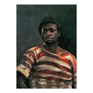 Black man portrait Othello painting Lovis Corinth Personalized Invites