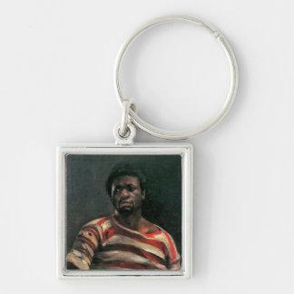 Black man portrait Othello painting Lovis Corinth Keychains
