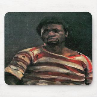 Black man portrait Othello painting Lovis Corinth Mousepads