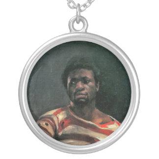 Black man portrait Othello painting Lovis Corinth Necklace