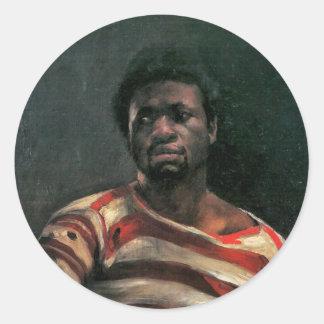 Black man portrait Othello painting Lovis Corinth Round Stickers