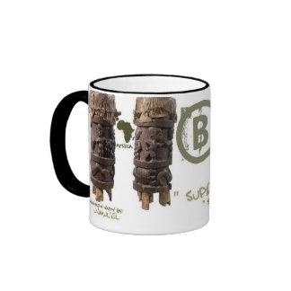 Black man Supreme image Ringer Mug