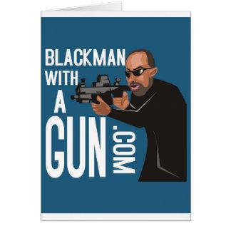 Black Man With A Gun LogoWear Card