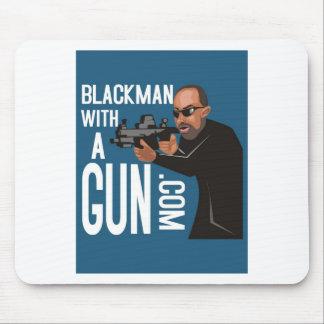 Black Man With A Gun LogoWear Mouse Pad