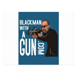 Black Man With A Gun LogoWear Postcard