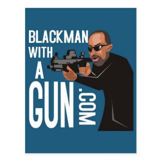 Black Man With A Gun LogoWear Postcard
