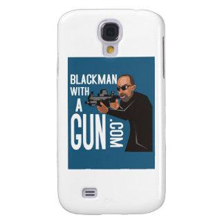 Black Man With A Gun LogoWear Samsung Galaxy S4 Case