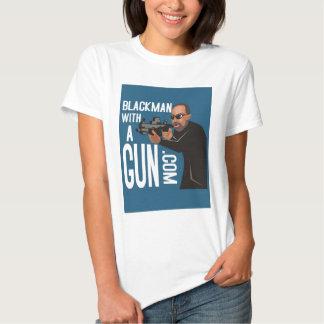 Black Man With A Gun LogoWear Shirt