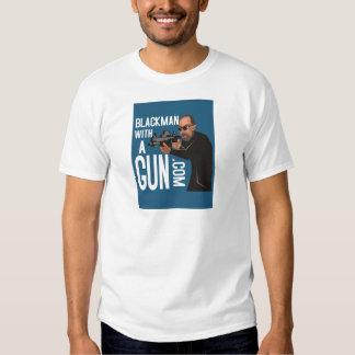 Black Man With A Gun LogoWear T-shirt