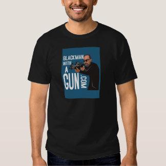 Black Man With A Gun LogoWear T Shirt