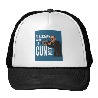 Black Man With A Gun LogoWear Trucker Hat