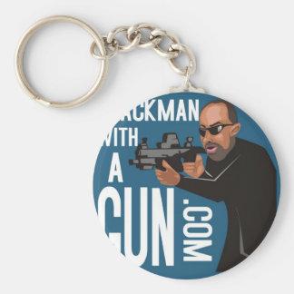 black man with a gun podcast key chain