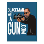 black man with a gun podcast post cards