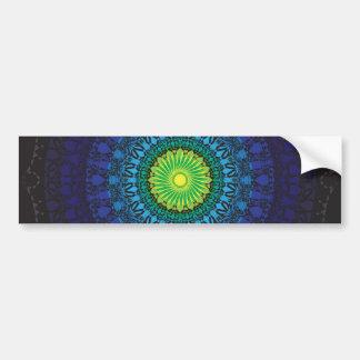 Black Mandala Design Car Bumper Sticker