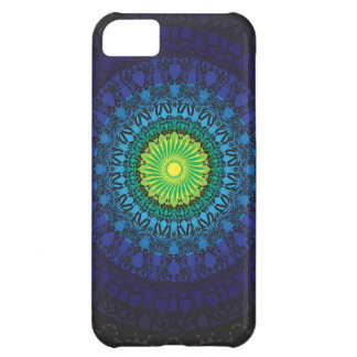 Black Mandala Design iPhone 5C Covers