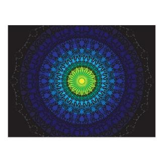 Black Mandala Design Postcard