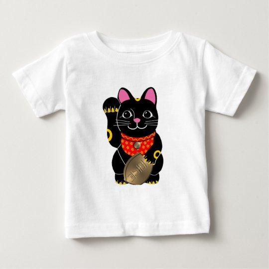 Black Maneki Neko Baby T-Shirt
