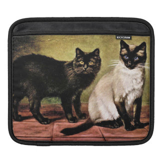 Black Mank and Royal Siamese Cat Sleeve For iPads
