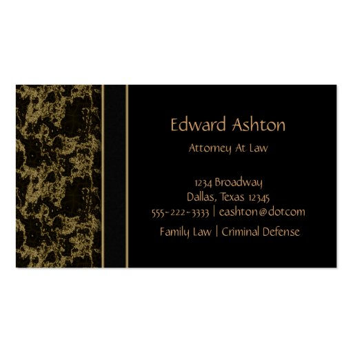 Black Marble Black & Gold Business Cards