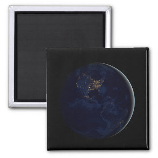 Black Marble, Blue Marble Americas 2 Inch Square Magnet