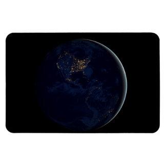 Black Marble, Blue Marble Americas Rectangular Photo Magnet
